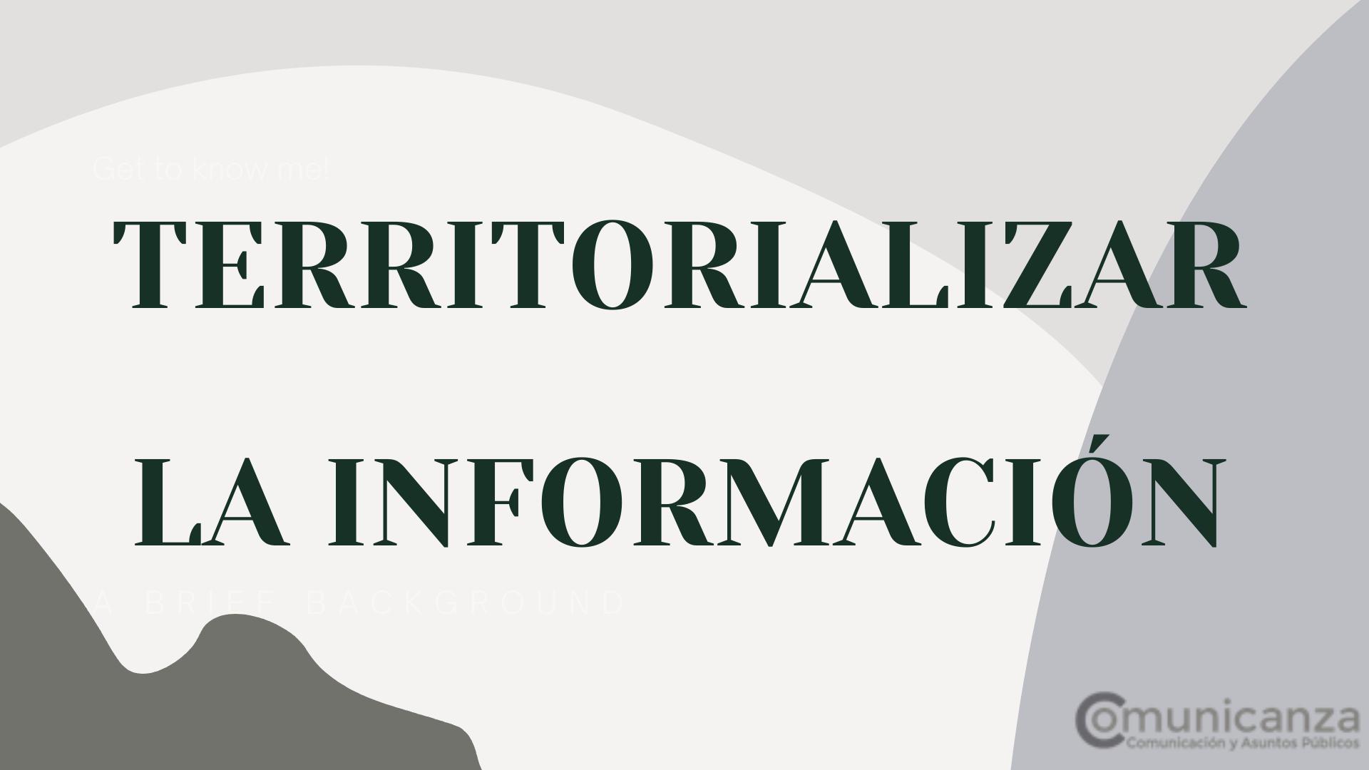 Imagen sobre territorializar la información